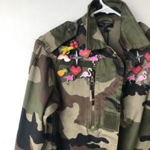 NEW Romeo & Juliet Couture Camo Utility Jacket M